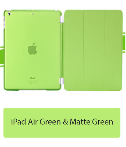 iPad Air Green Cover Matte Green back case, Auto on / off function