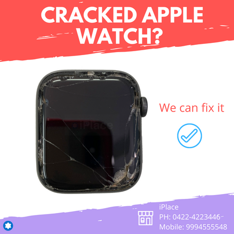 Apple Watch Series 4 44MM LTE Display Glass Change - Perfect Finish 100% satisfaction @ iPlace Coimbatore