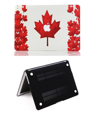 MacBook Pro 13 inch Retina Display Maple Leaf Red Colour Hard Shell Case