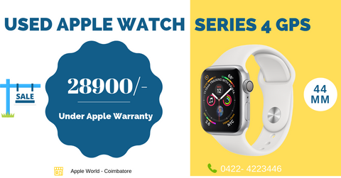 Used Apple Watch Series 4 - 44MM GPS for sale @ 28900/- under apple warranty ( Like new )