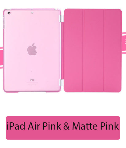 iPad Air Pink Cover Matte Pink back case