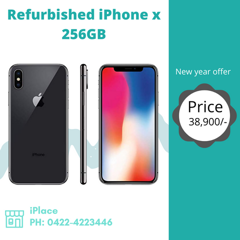 Refurbished iPhone X 256GB @ 38900/-  Visit our store today