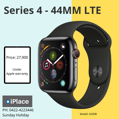Apple Watch Series 4 - 44MM LTE under Apple Warranty till May 2020 for sale @ 26900/-