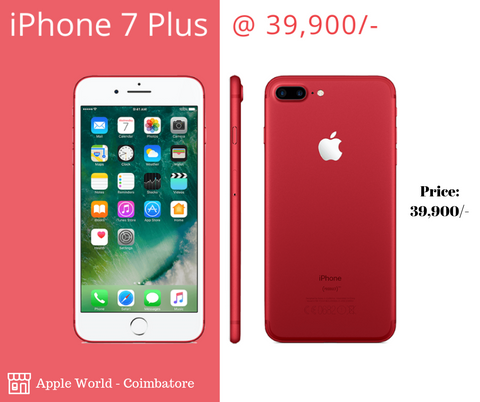 Refurbished iPhone 7 Plus 128GB @ 39900/-    Apple World - Coimbatore