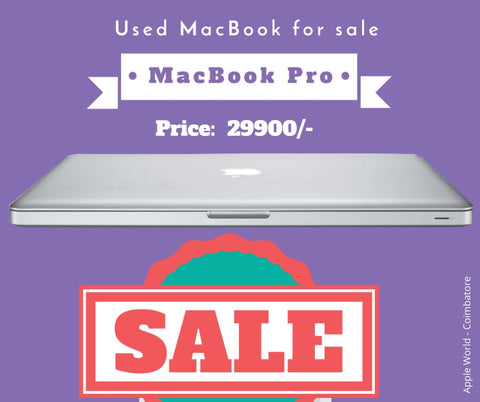 Used MacBook Pro Core i5 4GB ram 500GB HDD 13inch Screen @ 29900/-