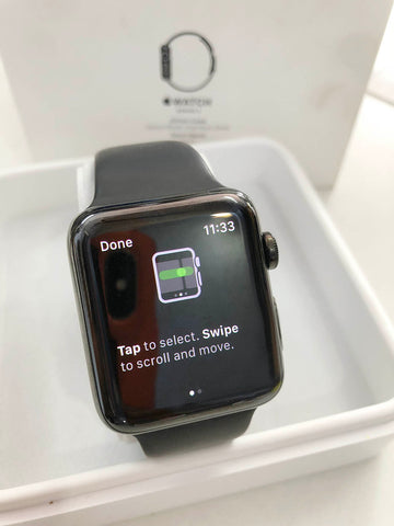 Used Series 2 Apple Watch 42MM - Stainless Steel - Black for sale