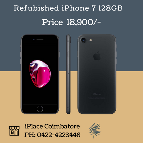 Refurbished iPhone 7 128GB @ 18900/-   New year offer - Visit our store now