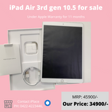 Open Box - Brand new iPad Air 3rd Gen 64GB WIFI for sale @ 34900/-   @ iPlace Coimbatore