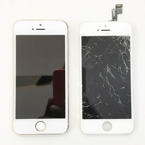 iPhone 5S Display Glass Broken And Replaced