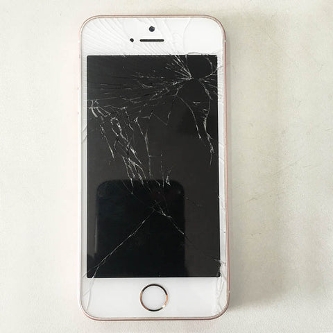 Apple iPhone SE Cracked Screen Glass Alone Changed