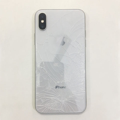 best service fc1c6 43191 Cracked iPhone X Back Glass - Replaced New Housing