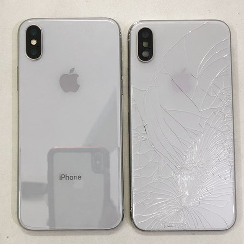 best service ac498 26294 Cracked iPhone X Back Glass - Replaced New Housing