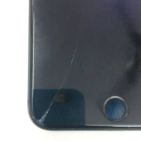 Cracked iPhone 7 Plus display glass, New top glass alone replaced