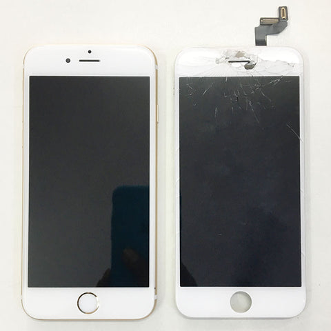 iPhone 6S Display Glass Broken, New Display Glass replaced
