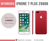 Refurbished iPhone 7 Plus 256GB Red Colour @ 44900/-