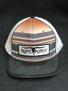 Rope Horny Black/White Trucker Cap Old West Serape Pattern
