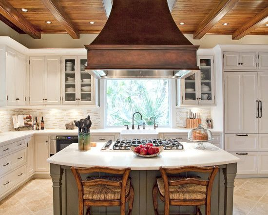 Kitchen Makeover with Island Vent Hood