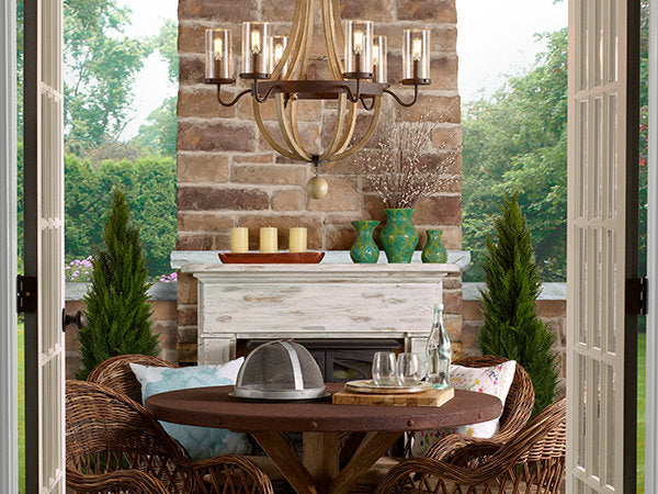 Outdoor Iron Chandeliers Ideas for Patio and Gazebos