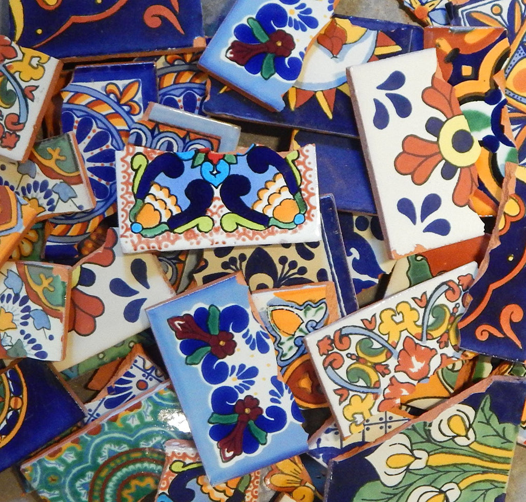 Broken Mexican Tiles for Mosaic Projects