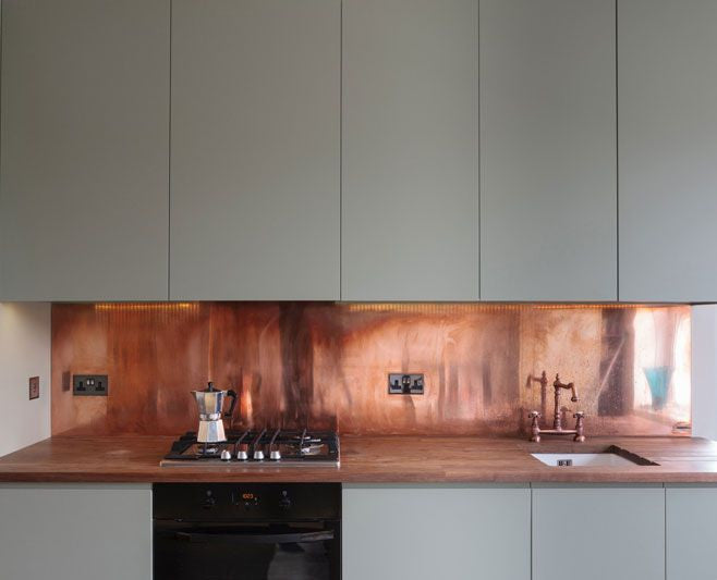 Custom Copper Kitchen Backsplash