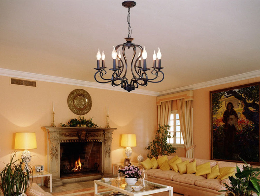 Custom Made Iron Chandeliers