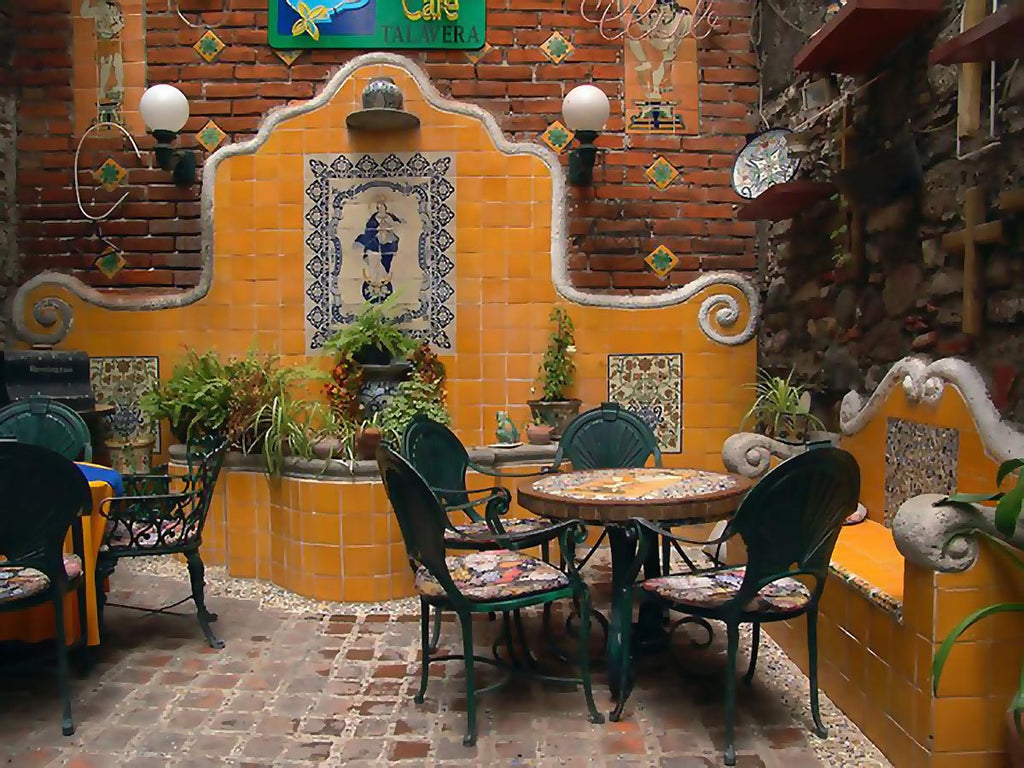 Hand Painted Mexican Mosaic Tiles