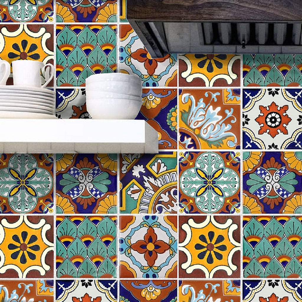 Painted Mexican Talavera Tiles