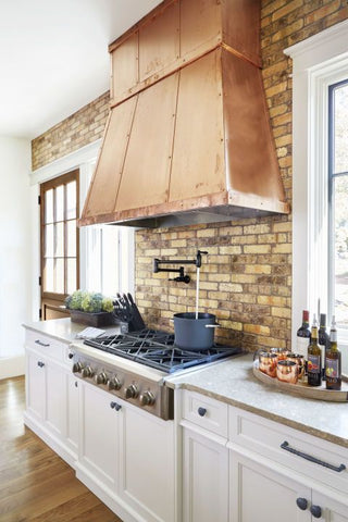 custom metal range hood