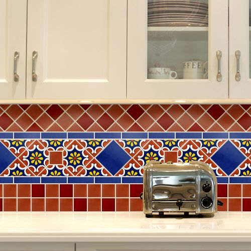 painted kitchen ceramic tiles for a backsplash