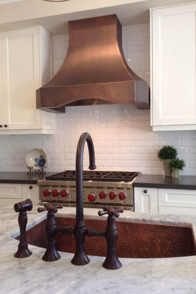 custom copper appliances for domestic kitchen use