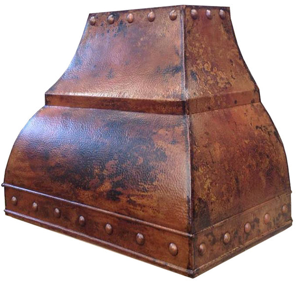 metal range hood handcrafted in copper