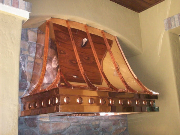 california style copper range hood