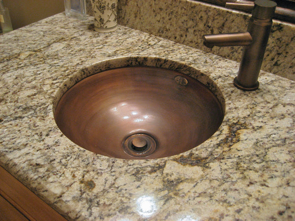 copper bathroom sink patina colors