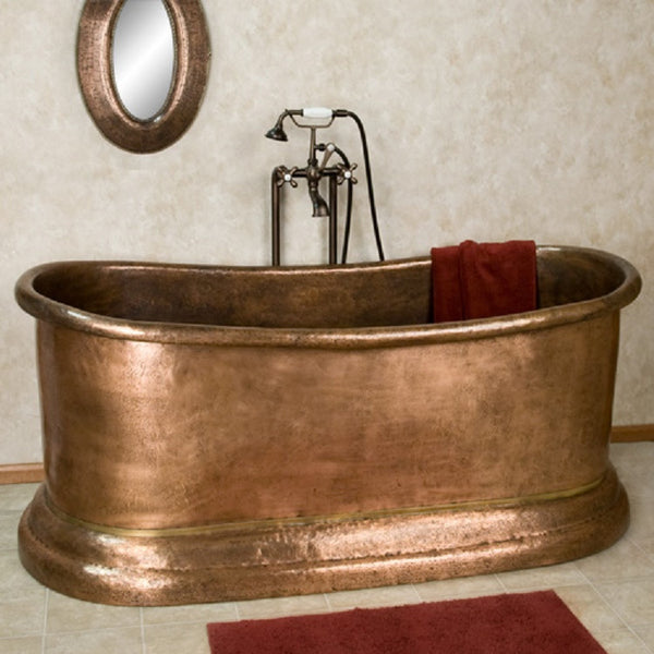 country copper tub in a bathroom