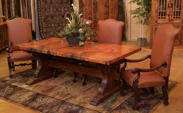 custom copper dining room table