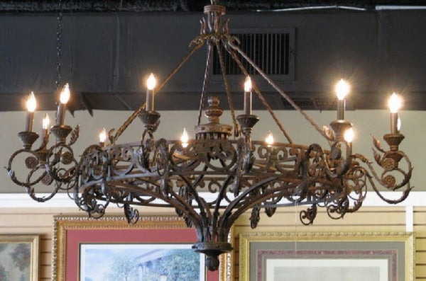 custom made iron chandelier for living room