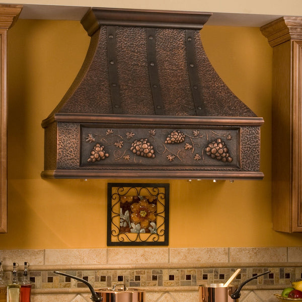 california hammered copper vent hood