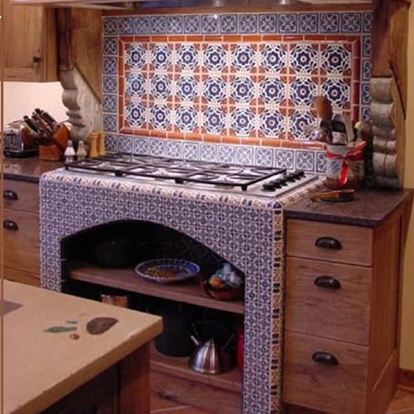 Painted Mexican Talavera Tiles Custom Made Products