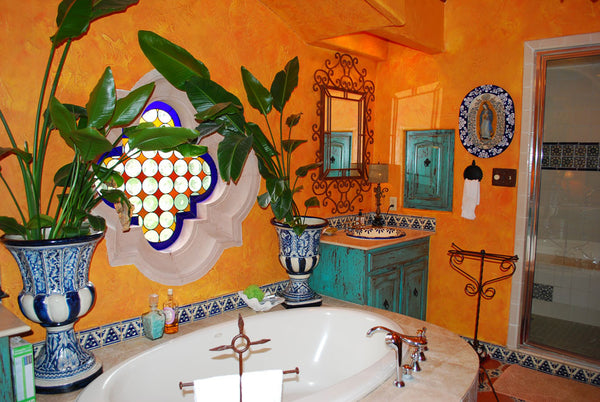 decorative ceramic tiles in a bathroom