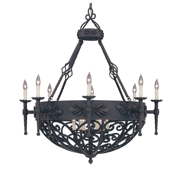 custom wrought iron light fixture