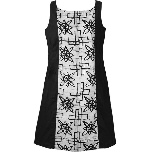 Womens A Line Dress - Black Mosiac