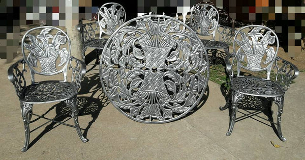 victorian patio dinning set