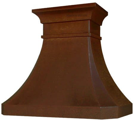 vent copper range hood