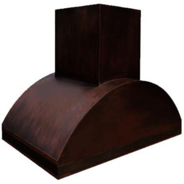 custom made vent copper range hood