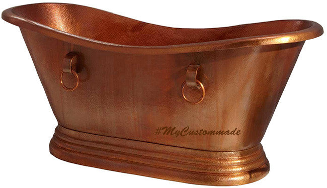 double slipper farmhouse copper bathtub