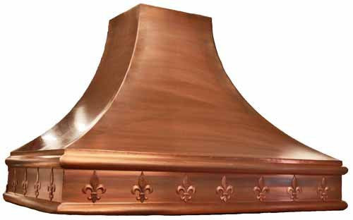 custom copper oven hood