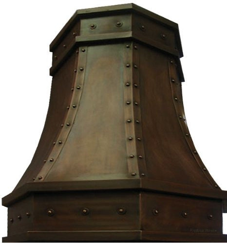 oven copper range hood