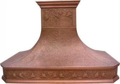 custom oven copper range hood