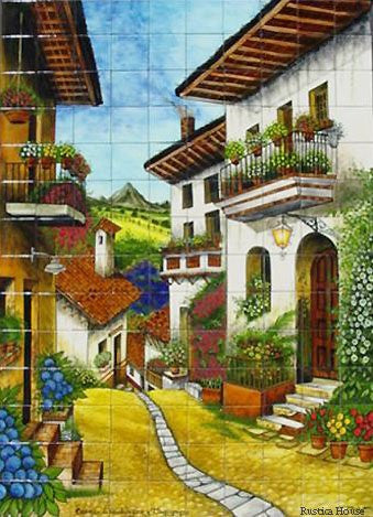 Tile Mural from Mexico 'Flowers Alley'