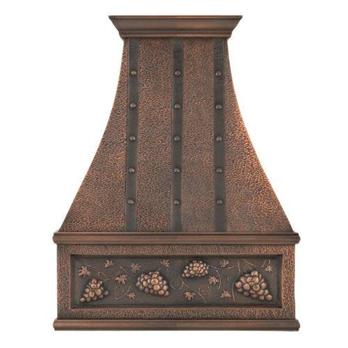 cook-top copper range hood